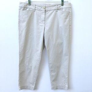 Ann Taylor LOFT Original Crop Khaki Pants 8P